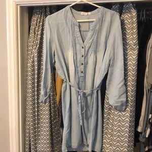Light denim dress